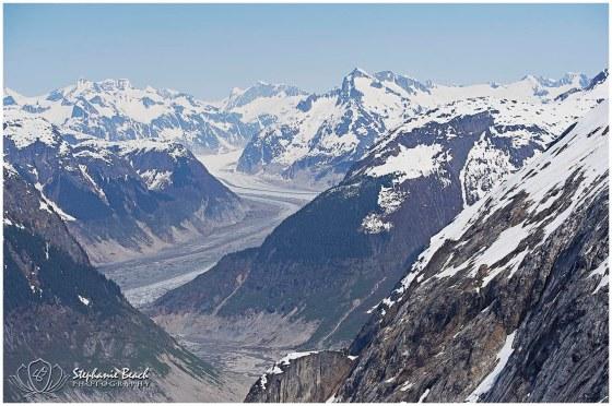 Alaska Skyline with Glaciers and Mountains