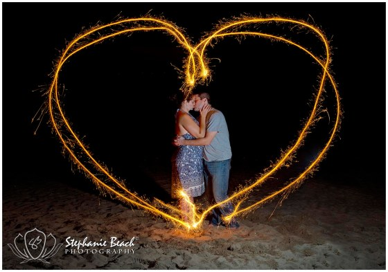 Ottawa Couple Photography Sparkler Photo