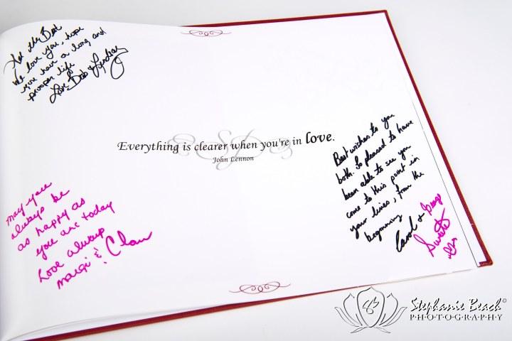 Custom Designed Wedding Guest Signature Book