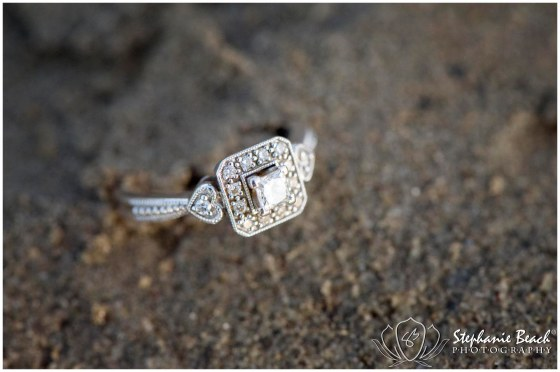 Beach Engagement Ring Shot