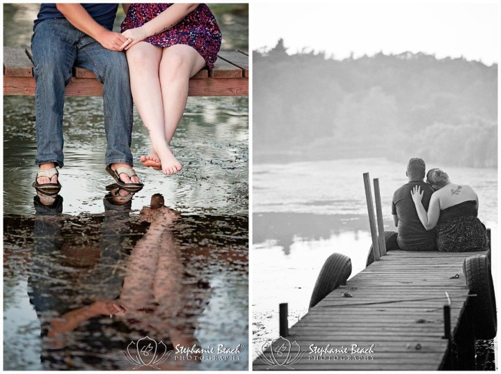 Engagement Photography on Dock