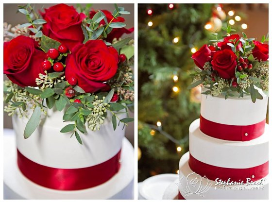 Ottawa Wedding Rose topped cake