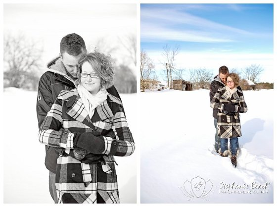 Winter Farm Engagement Session