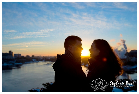 Downtown Ottawa Winter Engagement Stephanie Beach Photography