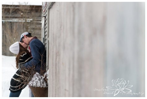 Lunenberg Winter Engagement Session Stephanie Beach Photography