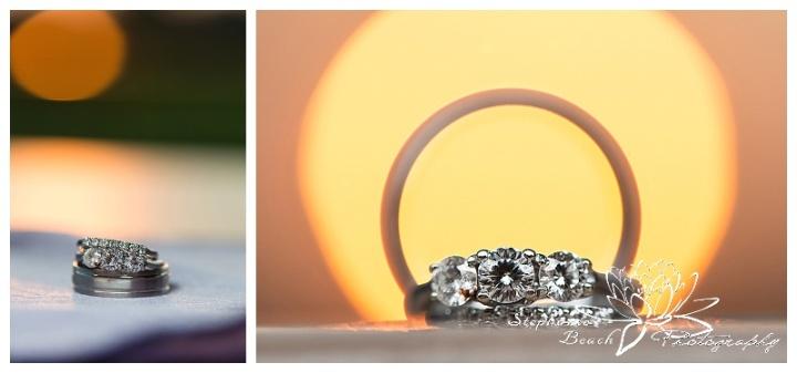 Sunset Ring Shot Wedding Stephanie Beach Photography 01
