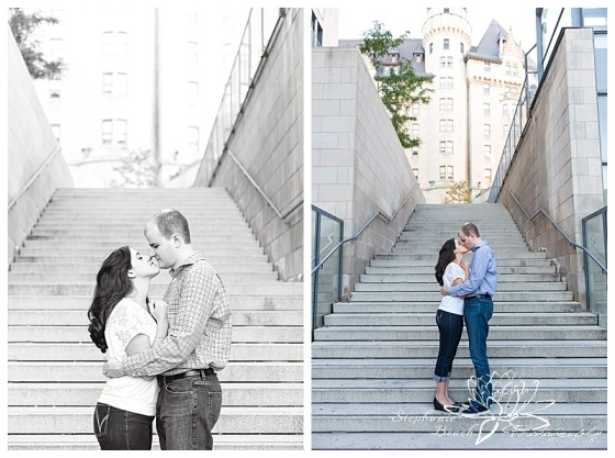 Major-hill-park-engagement-session-tree-Chateau-Laurier-stairs-steps-sunflare-ottawa-stephanie-beach-photography