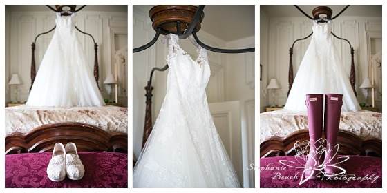Perth-Manor-Wedding-Stephanie-beach-Photography-Wedding-Dress-Rain-Boots-Toms