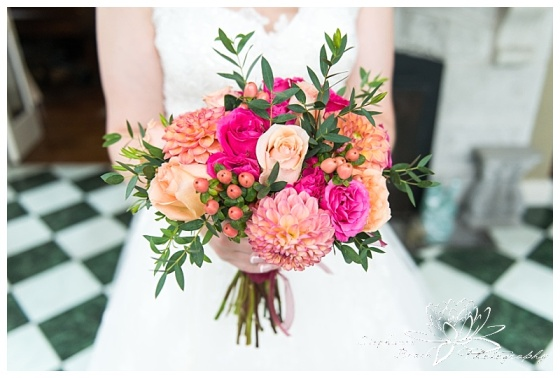 Perth-Manor-Wedding-Stephanie-Beach-Photography-Bride-Flowers-Bouquet-Coral-Pink-Orange-Floral