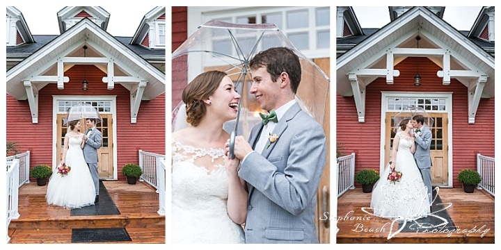 Temples-Sugar-Bush-Wedding-portraits-bride-groom-rain-rainy-day-umbrella-smiles-laughter