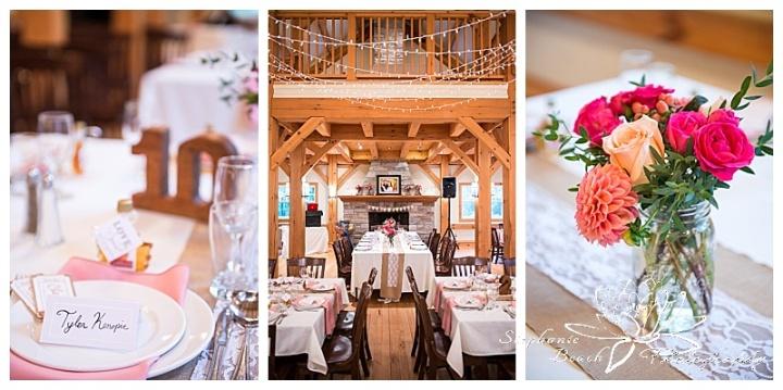 Temples-Sugar-Bush-Wedding-Reception-decor-twinkle-lights-flowers-coral-pink-rustic