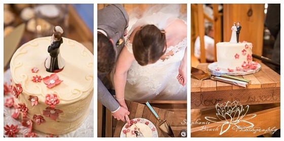 Temples-Sugar-Bush-Wedding-Reception-Cake-cutting-Sweet-clementines-baker-topper