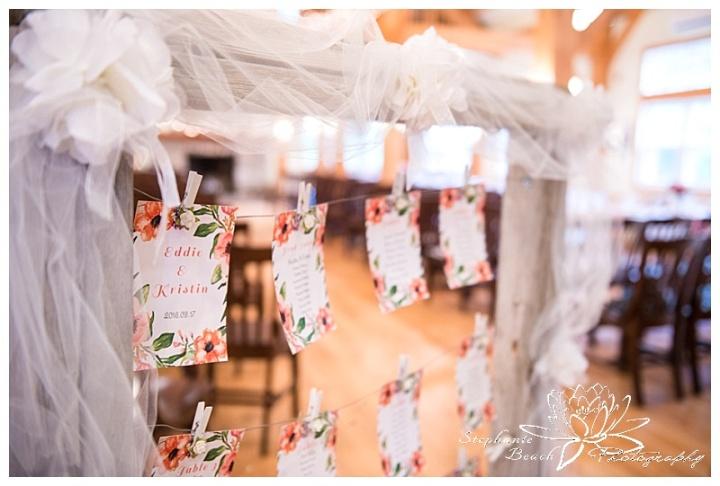 Temples-Sugar-Bush-Wedding-Reception-decor-rustic-tulle-seating-chart