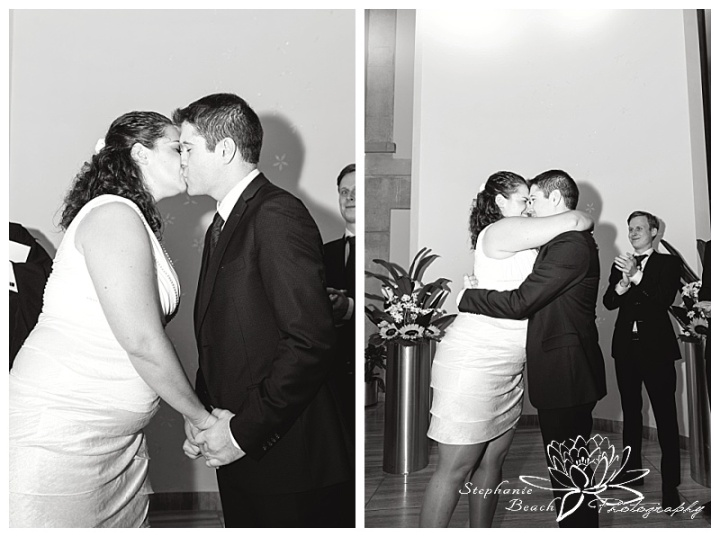 Toronto-City-Hall-Wedding-Stephanie-Beach-Photography-first-kiss-civil-ceremony
