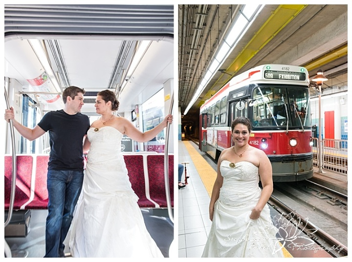 Toronto-Island-Wedding-Stephanie-Beach-Photography-bride-groom-TTC-subway