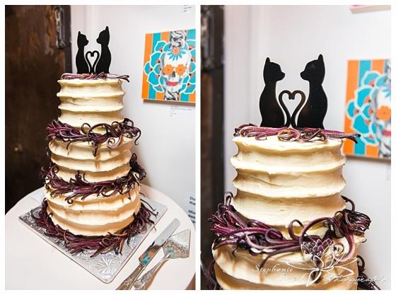 orange-art-gallery-wedding-stephanie-beach-photography-reception-cake