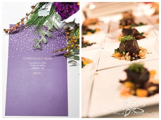 orange-art-gallery-wedding-stephanie-beach-photography-reception-dinner-menu-whalesbone