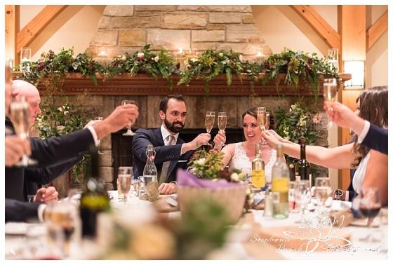temples'-sugar-bush-wedding-stephanie-beach-photography-reception-cheers-toast