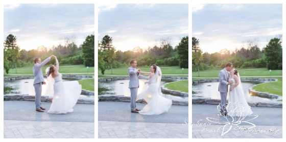 Gatineau-Golf-Club-Wedding-Stephanie-Beach-Photography-bride-groom-sunset-twirl-dance