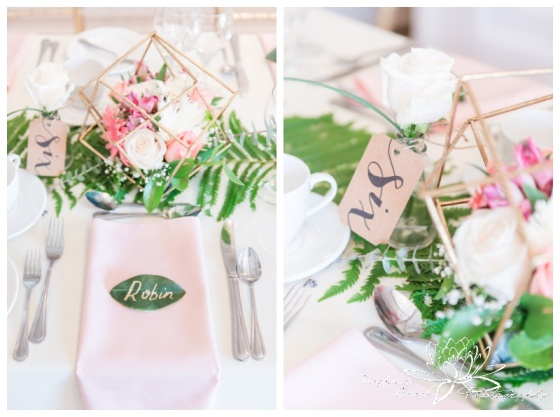 Strathmere-Inn-DIY-Wedding-Stephanie-Beach-Photography-reception-decor-gold-geometric