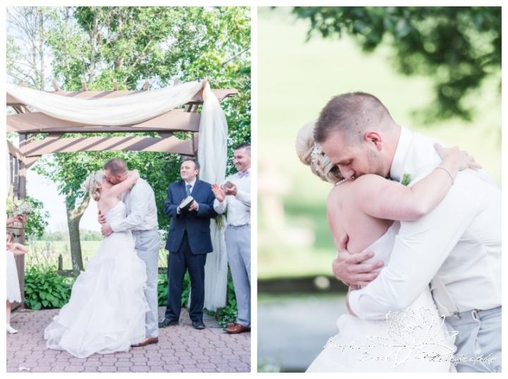 Strathmere-Lodge-Wedding-Stephanie-Beach-Photography-ceremony-bride-groom-first-kiss