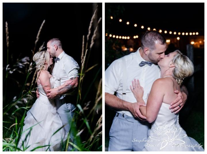 Strathmere-Lodge-Wedding-Stephanie-Beach-Photography-bride-groom-night-edison-bulbs-grass