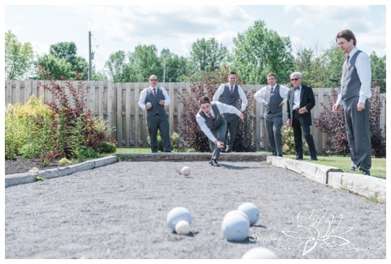 Evermore-Wedding-Ottawa-Stephanie-Beach-Photography-groom-groomsmen-bocce-ball