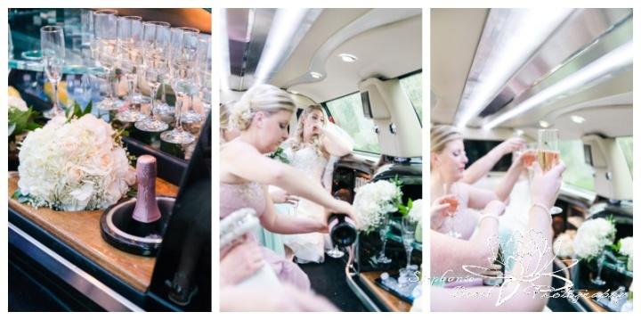 Ottawa-Lago-Wedding-Stephanie-Beach-Photography-bridesmaids-bride-limo-champagne