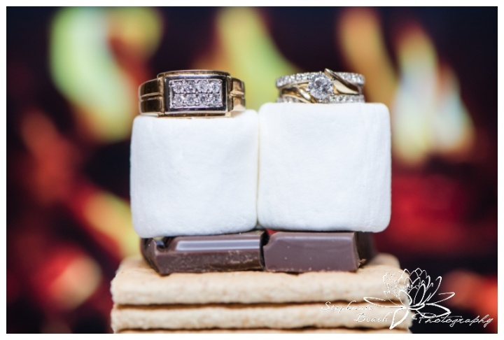 Strathmere-Garden-House-Wedding-Stephanie-Beach-Photography-campfire-smores-ring