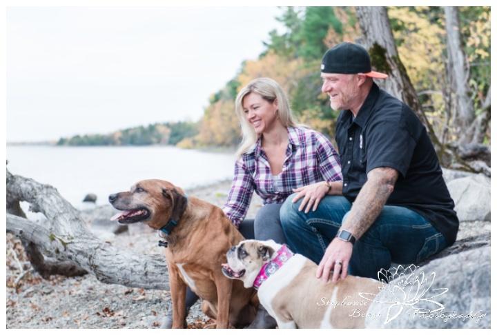 Anniversary-Portrait-Session-Sheila-McKee-Park-Stephanie-Beach-Photograph-rhodesian-ridgeback-bulldog-driftwood