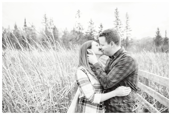 Jack-Pine-Trail-Engagement-Session-Stephanie-Beach-Photography-swamp-boardwalk-bridge