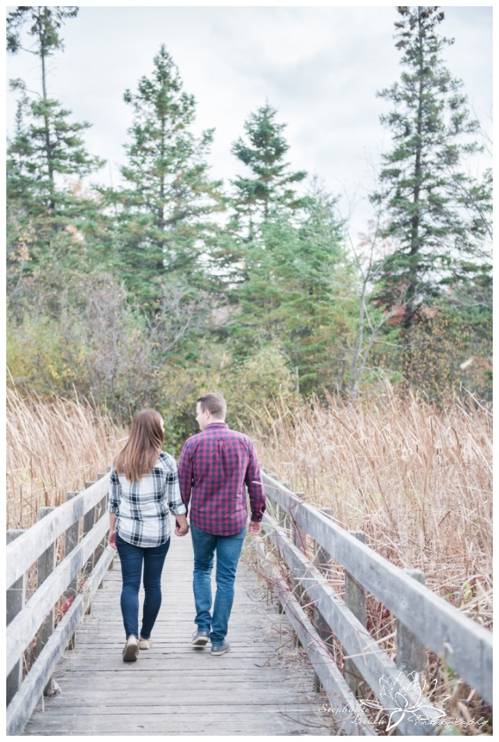 Jack-Pine-Trail-Engagement-Session-Stephanie-Beach-Photography-fall-colours-swamp-boardwalk-bridge