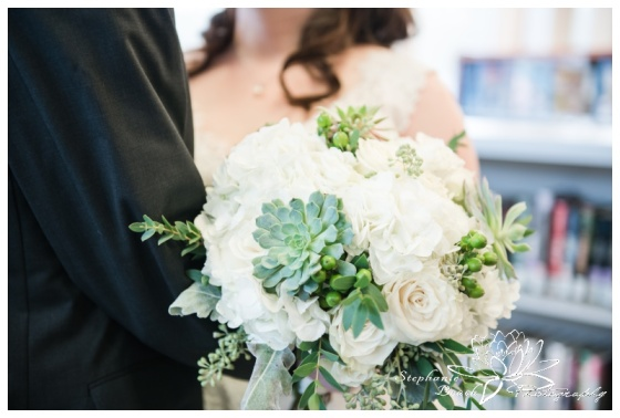 Ottawa-Public-Library-Wedding-Stephanie-Beach-Photography-bouquet-mood-moss-flowers