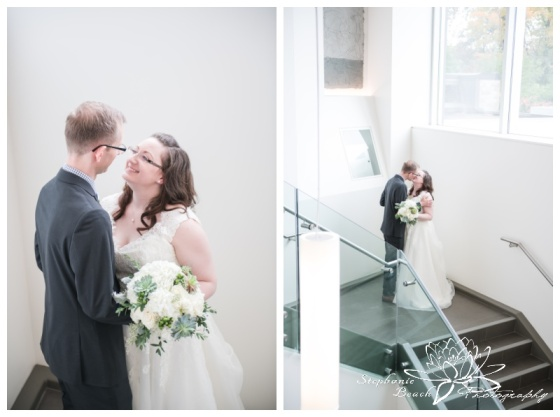 Ottawa-Public-Library-Wedding-Stephanie-Beach-Photography-bride-groom-stairs-portrait