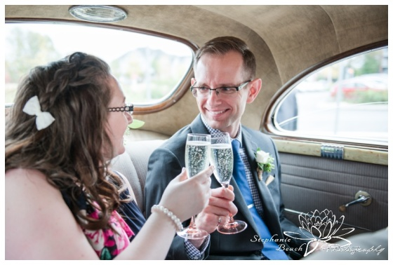 Ottawa-Public-Library-Wedding-Stephanie-Beach-Photography-car-champagne-toast