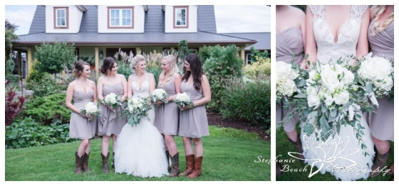 Stanleys-Olde-Maple-Lane-Farm-Wedding-Stephanie-Beach-Photography-bride-bridesmaids-farmhouse-bouquets