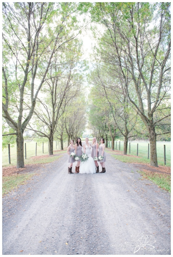 Stanleys-Olde-Maple-Lane-Farm-Wedding-Stephanie-Beach-Photography-bride-bridesmaids-laneway
