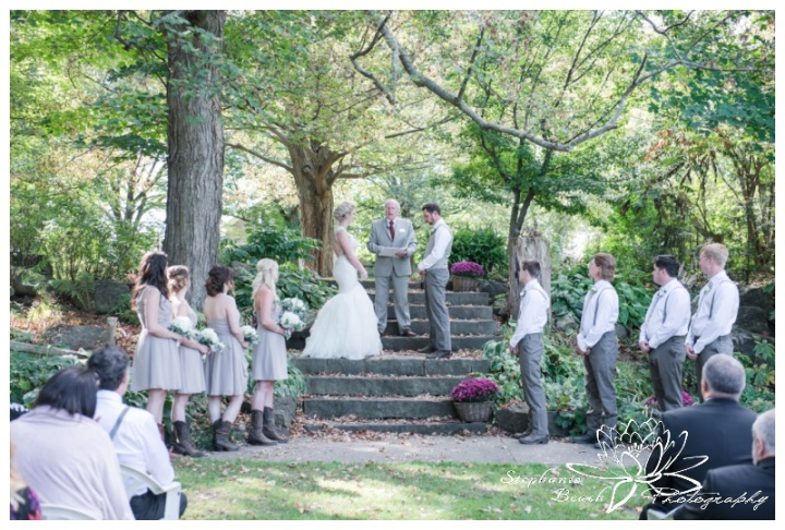 Stanleys-Olde-Maple-Lane-Farm-Wedding-Stephanie-Beach-Photography-ceremony-stone-steps