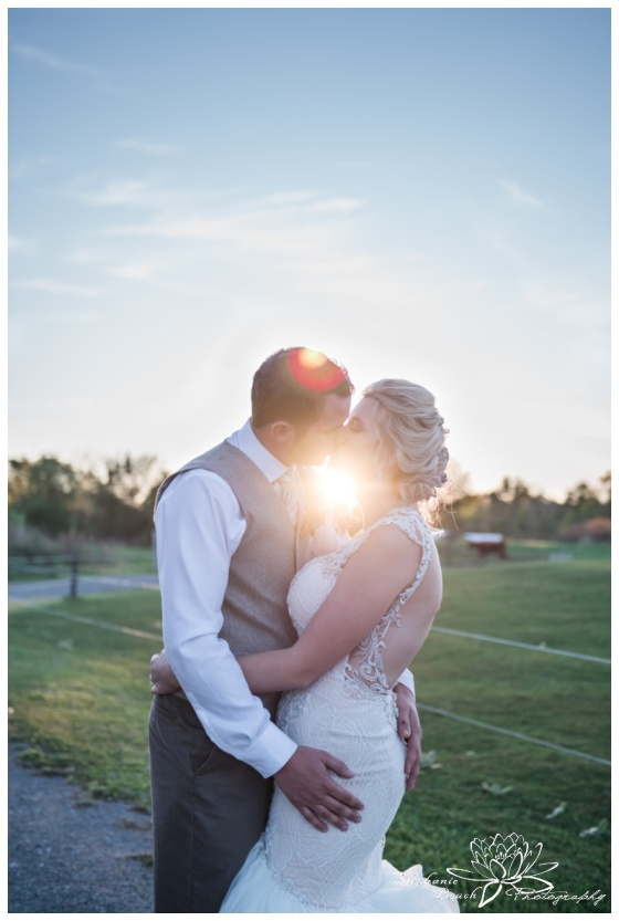 Stanleys-Olde-Maple-Lane-Farm-Wedding-Stephanie-Beach-Photography-sunset-sunflare
