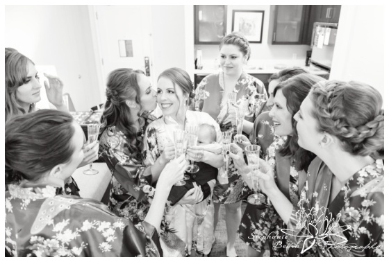 Strathmere-Lodge-Wedding-Stephanie-Beach-Photography-prep-bride-bridesmaids-toast-champagne