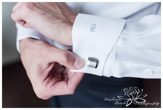 Strathmere-Lodge-Wedding-Stephanie-Beach-Photography-prep-groom-cufflink-monogram