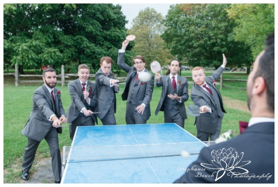 Strathmere-Lodge-Wedding-Stephanie-Beach-Photography-groom-groomsmen-ping-pong-portrait