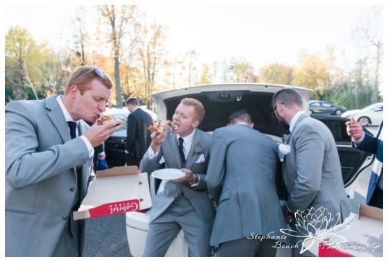 Ottawa-Fall-Wedding-Stephanie-Beach-Photography-groomsmen-portrait-pizza