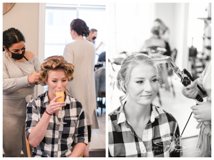Ottawa-Fall-Backyard-Wedding-Stephanie-Beach-Photography-bride-prep-hair-stylist-champagne