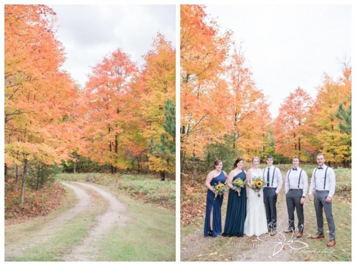Ottawa-Fall-Backyard-Wedding-Stephanie-Beach-Photography-sunflower-bouquet-bridesmaids-groomsmen